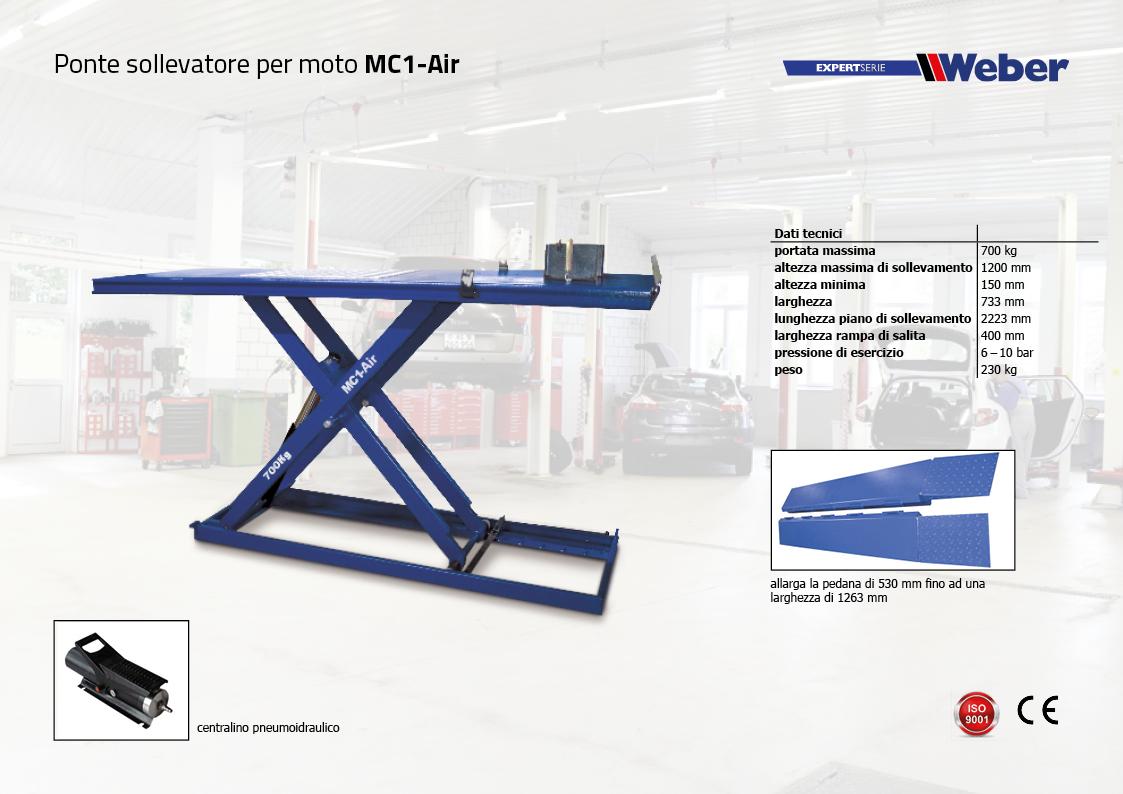 Ponte sollevatore per moto Weber ExpertSerie MC1-Air