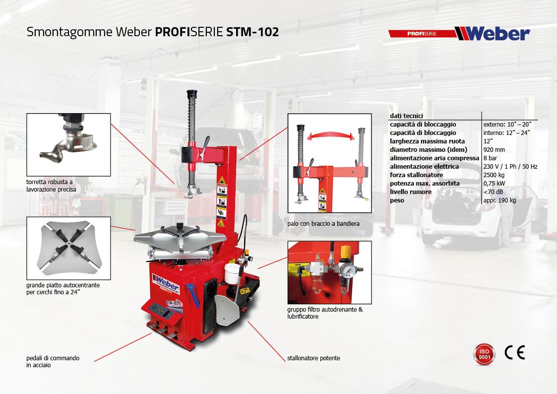 Smontagomme Weber PROFISERIE STM-102