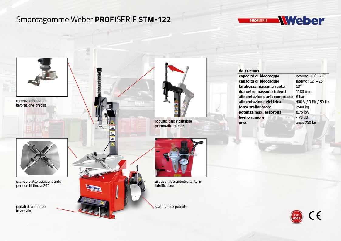 Smontagomme Weber PROFISERIE STM-122