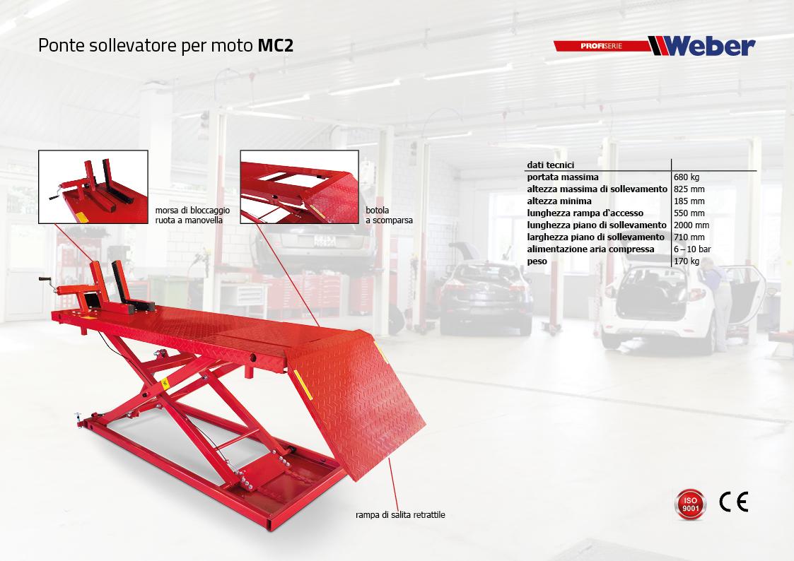 Ponte sollevatore Weber per moto MC2