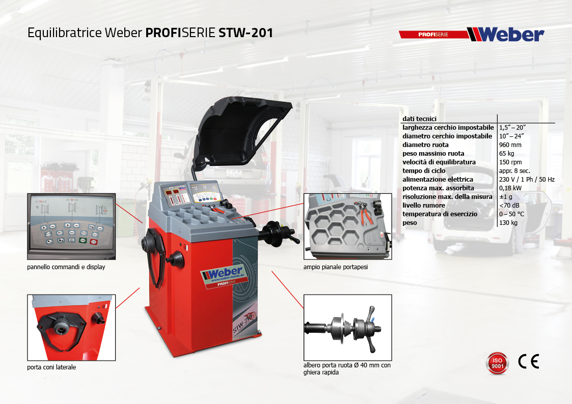 Equilibratrice Weber PROFISERIE STW-201