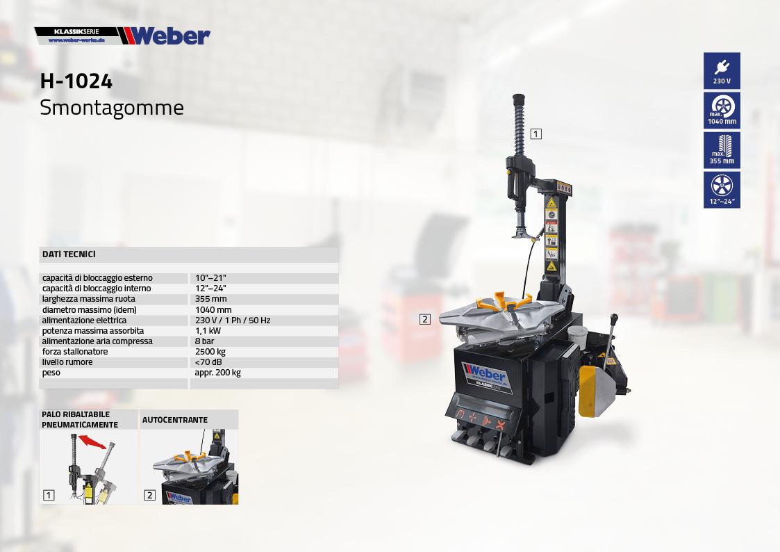 Smontagomme Weber KLASSIKSERIE H-1024