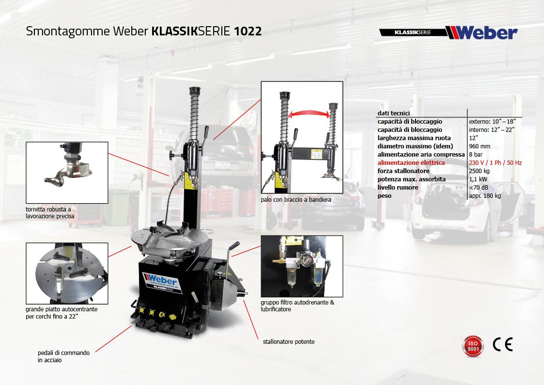"Pack Promozionale ""DYNAMIK"" Smontagomme e Equilibratrice veicoli leggeri Weber Klassik Serie - 1022"