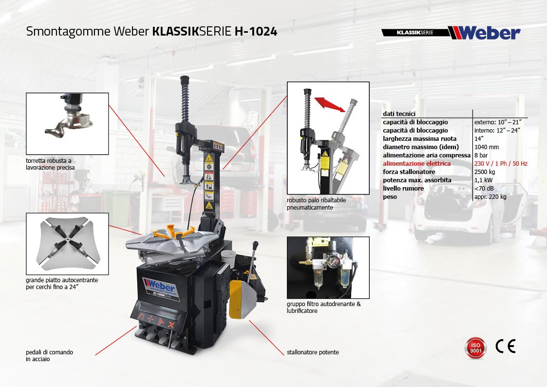 "Pack Promozionale ""AUTOMATIK"" Smontagomme e Equilibratrice veicoli leggeri Weber Klassik Serie - H-1024"