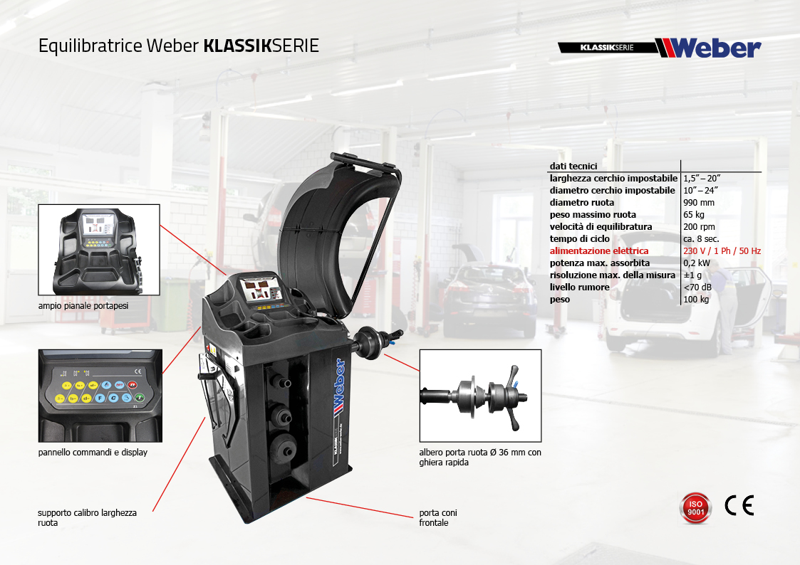 Pack Promozionale Smontagomme e Equilibratrice veicoli leggeri Weber Klassik Serie