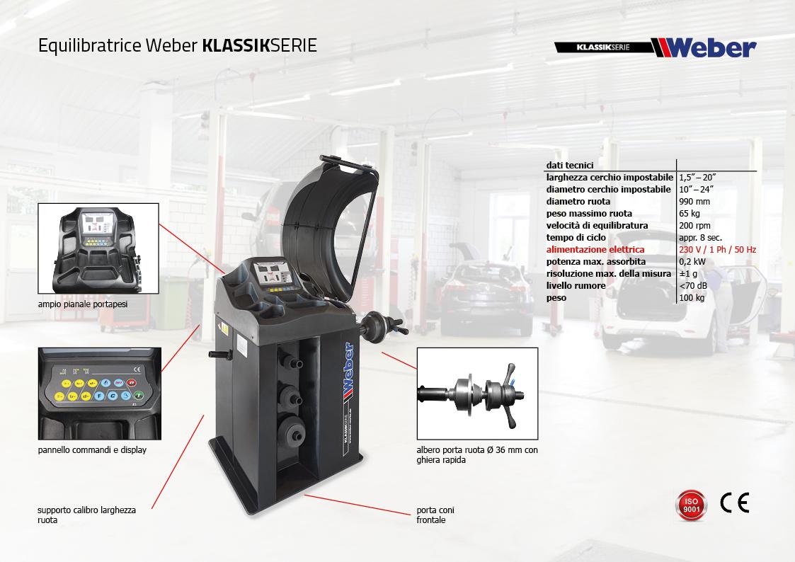 "Pack Promozionale ""AUTOMATIK"" Smontagomme e Equilibratrice veicoli leggeri Weber Klassik Serie"