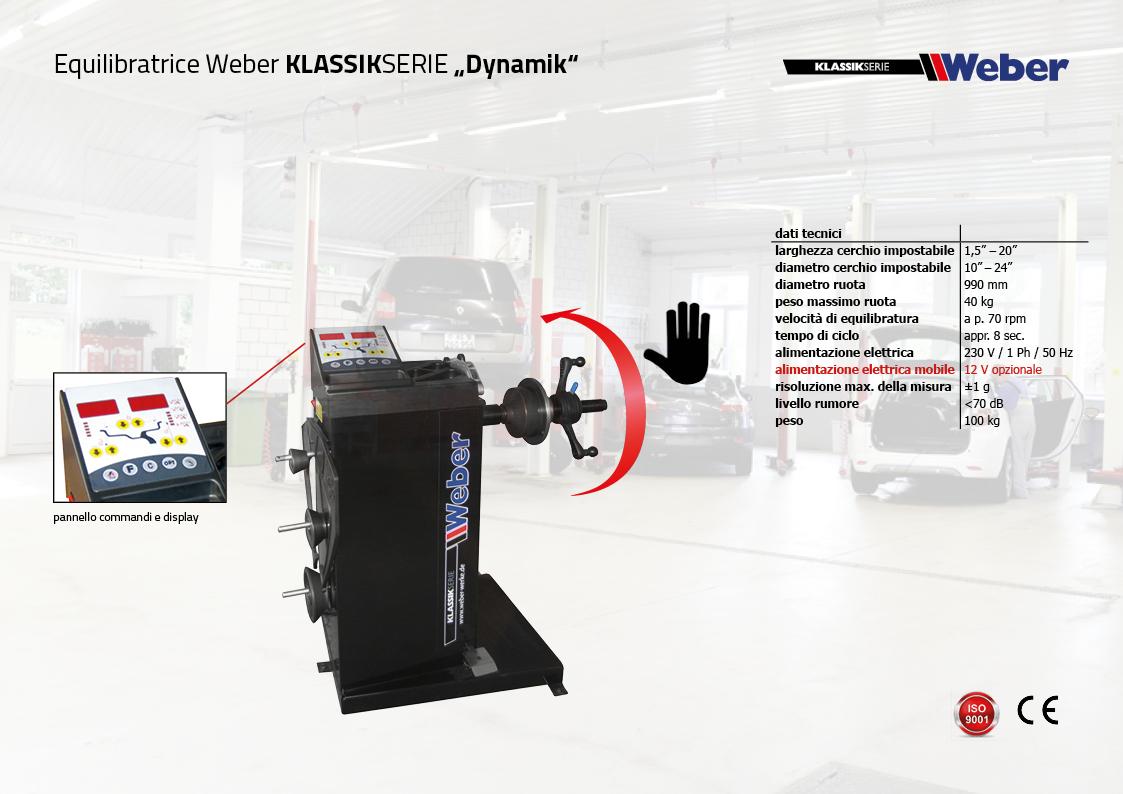"Equilibratrice veicoli leggeri Weber KLASSIKSERIE ""Dynamik"""