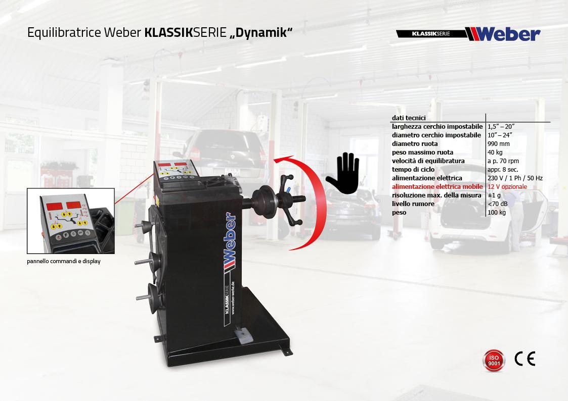 "Pack Promozionale ""DYNAMIK"" Smontagomme e Equilibratrice veicoli leggeri Weber Klassik Serie"