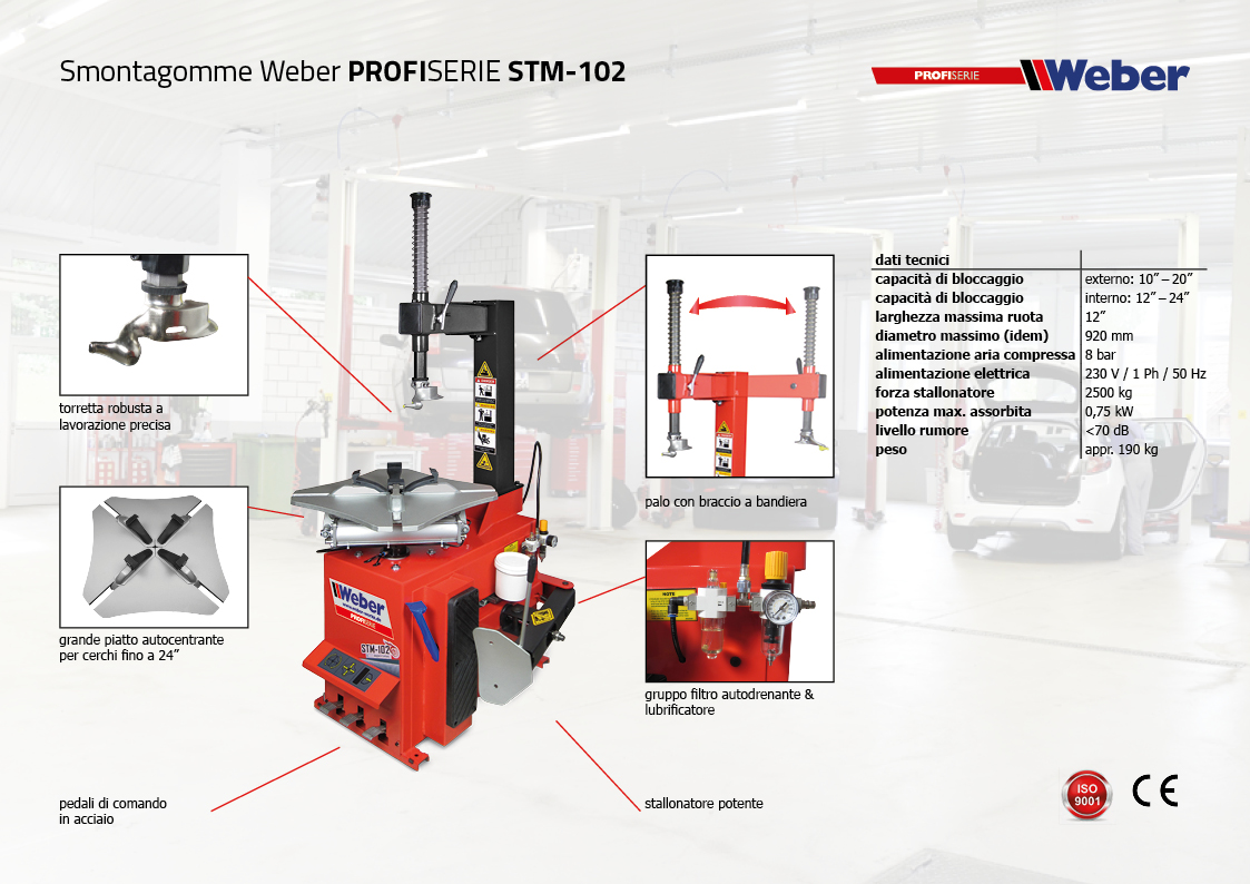 Pack Promozionale Smontagomme e Equilibratrice veicoli leggeri Weber Profi Serie - STM-102