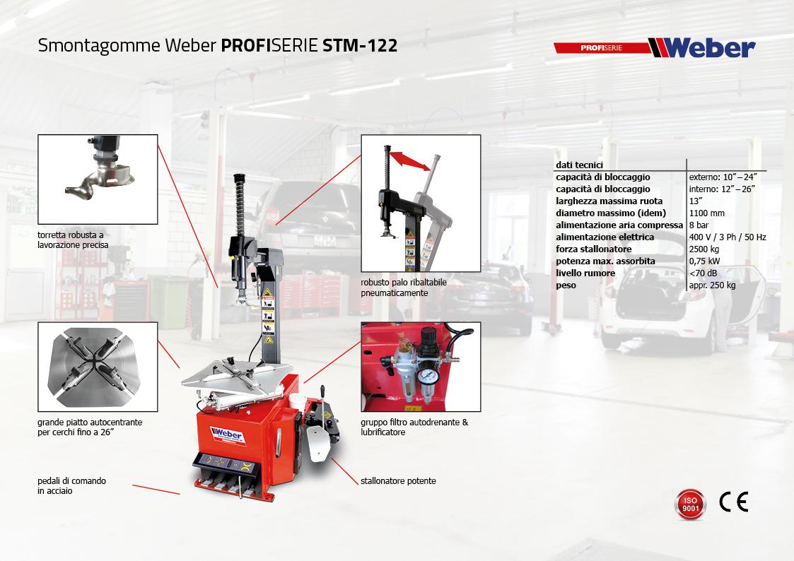"Pack Promozionale Smontagomme e Equilibratrice veicoli leggeri Weber Profi Serie ""AUTOMATIK"" - STM-122"
