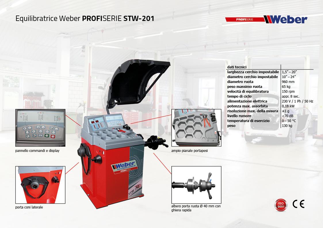 "Pack Promozionale Smontagomme e Equilibratrice veicoli leggeri Weber Profi Serie ""AUTOMATIK"" - STW-201"