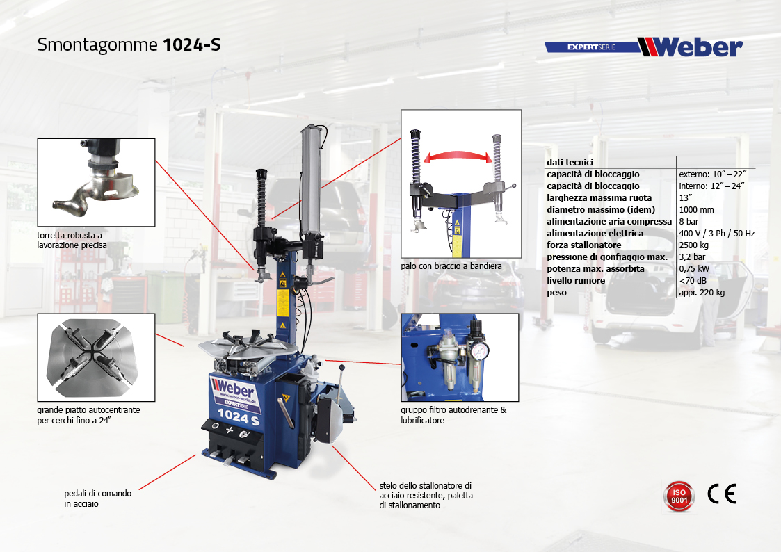 Smontagomme Exper Serie 1024-S
