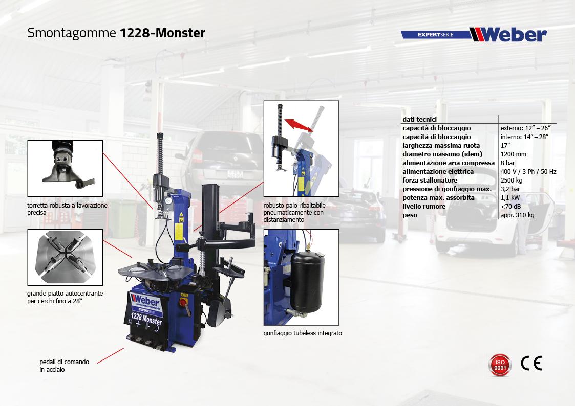 Smontagomme Weber ExpertSerie 1228-Monster