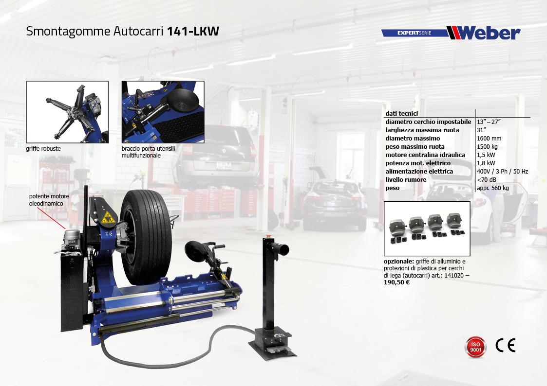 Smontagomme Autocarri Weber Expert-Serie 141-LKW