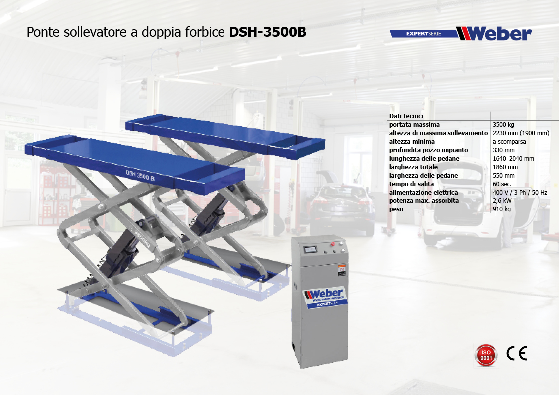 Ponte sollevatore a doppia forbice Weber Expert Serie DSH 3500B