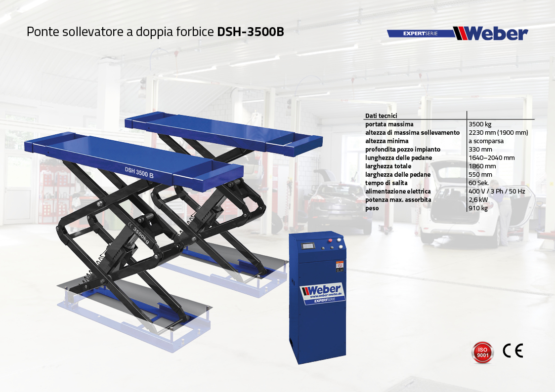 Ponte sollevatore a doppia forbice Weber Expert Serie DSH-3500B