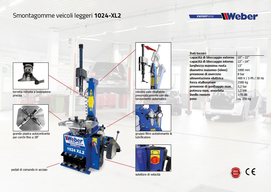 Smontagomme veicoli leggeri Weber ExpertSerie 1024-XL2