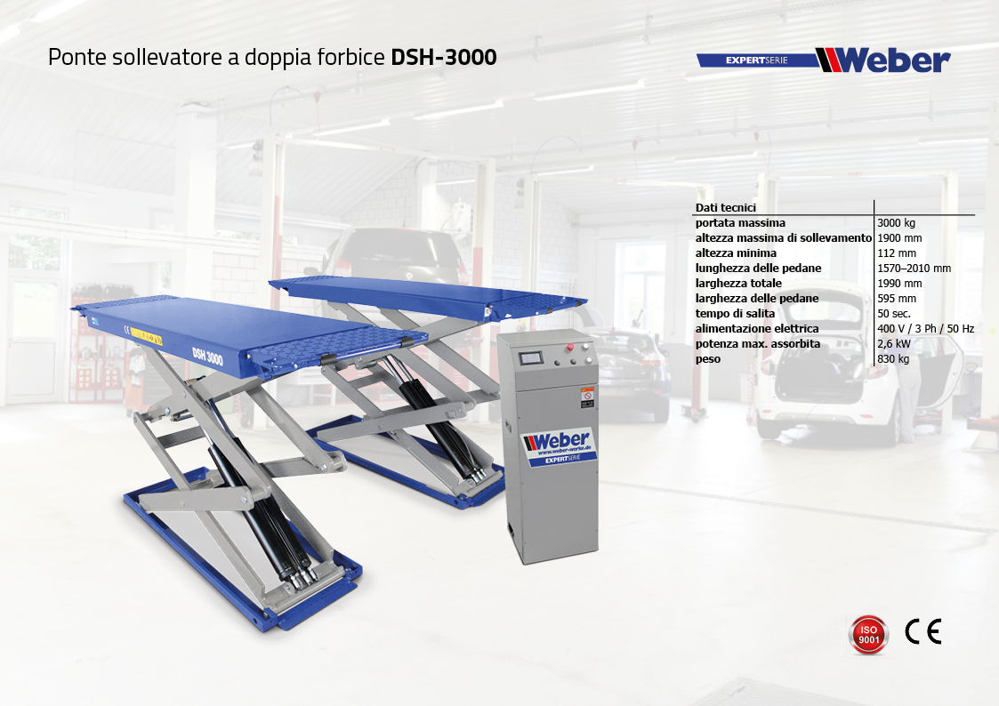 Ponte sollevatore a doppia forbice Weber ExpertSerie DSH 3000