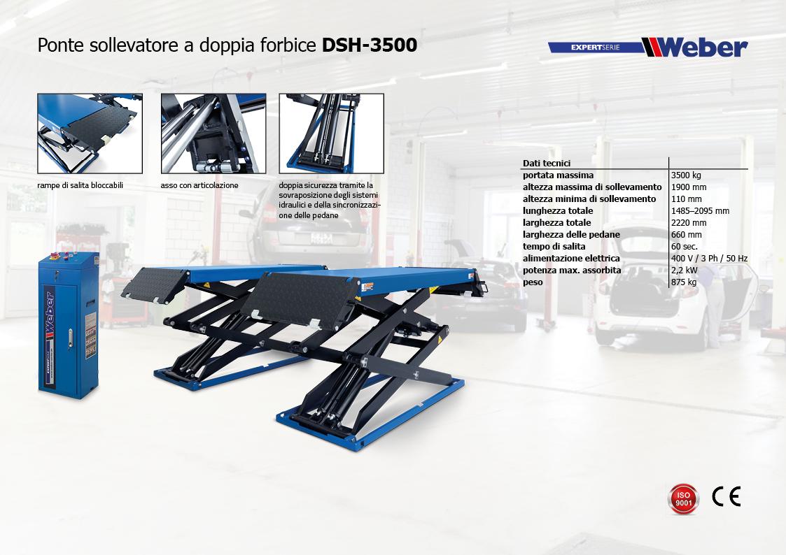 Ponte sollevatore a doppia forbice DSH-3500