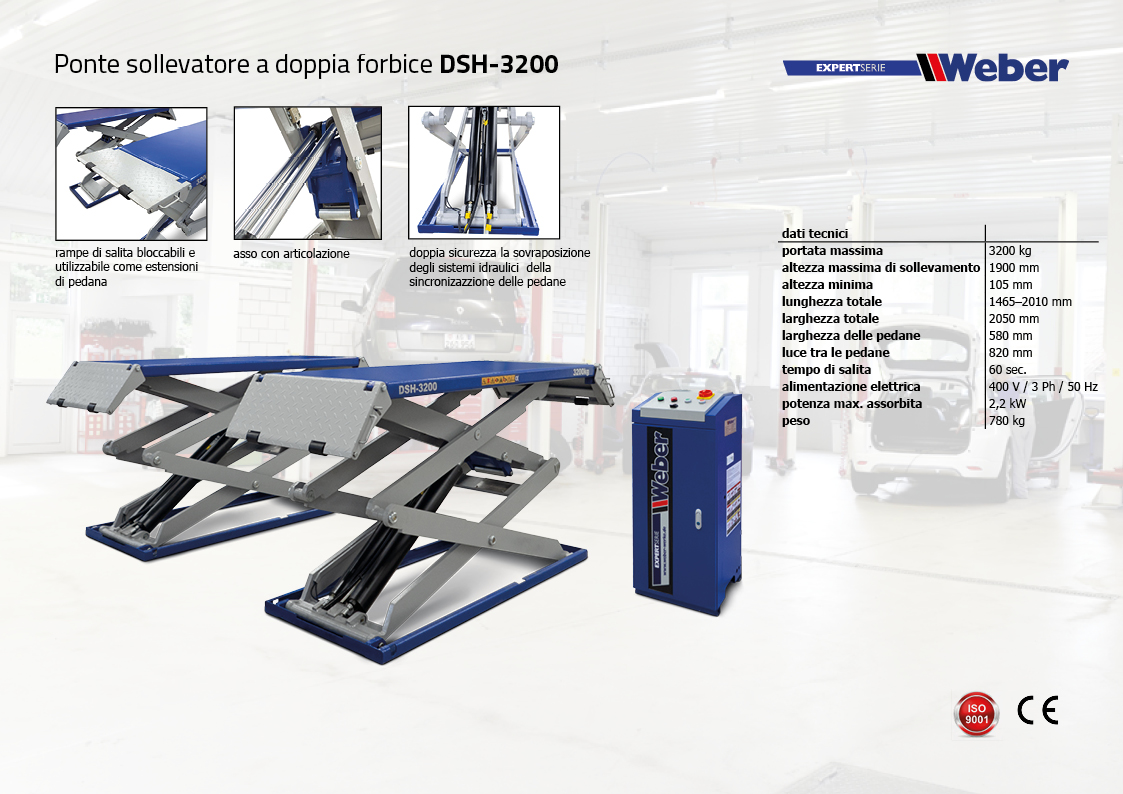 Ponte sollevatore a doppia forbice Weber Expert Serie DSH-3200