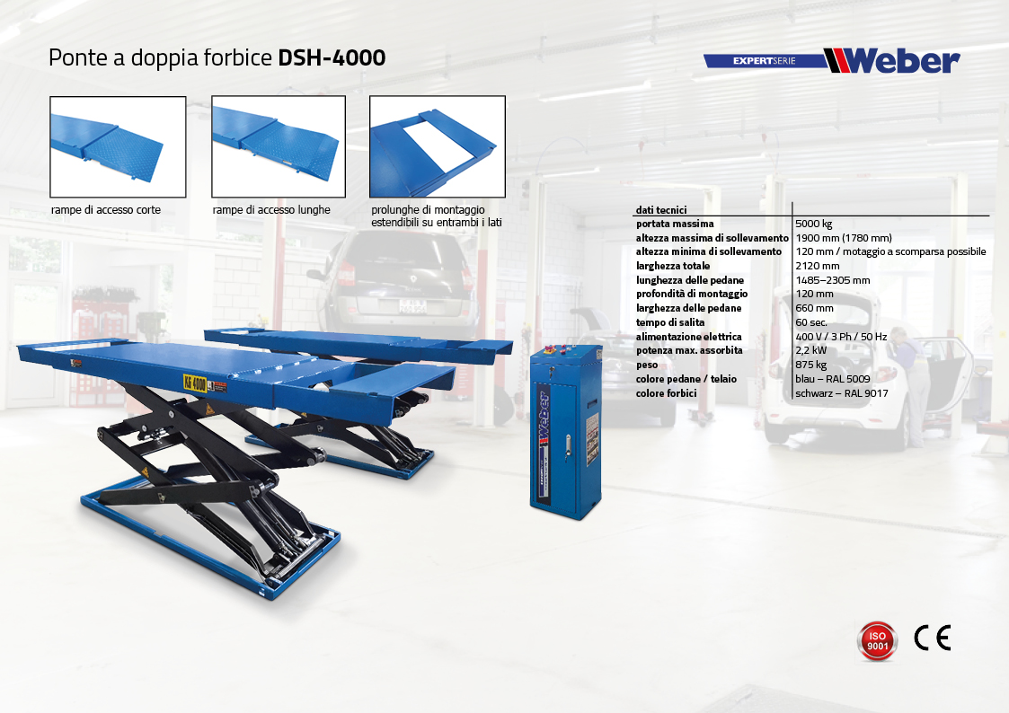 Ponte sollevatore a doppia forbice DSH-4000
