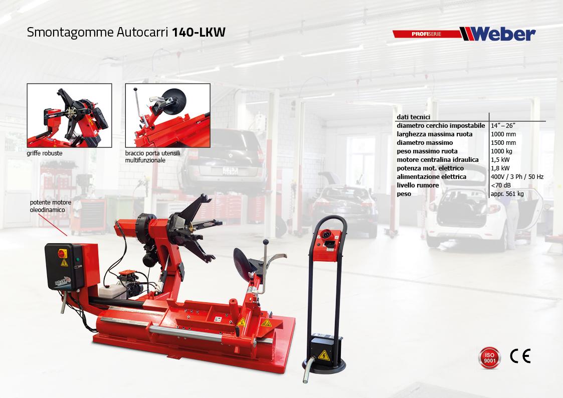 Smontagomme Autocarri Weber Expert-Serie 140-LKW