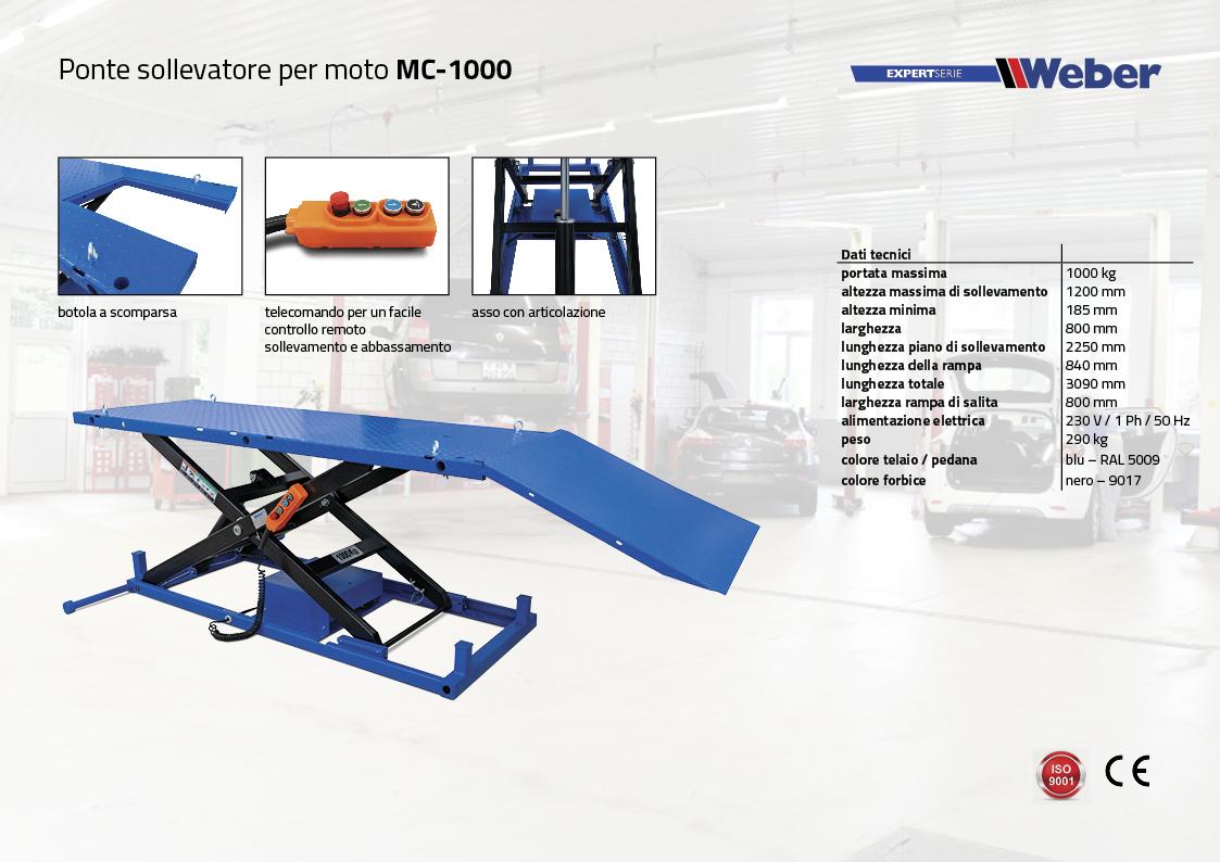 ponte sollevatore per moto MC-1000