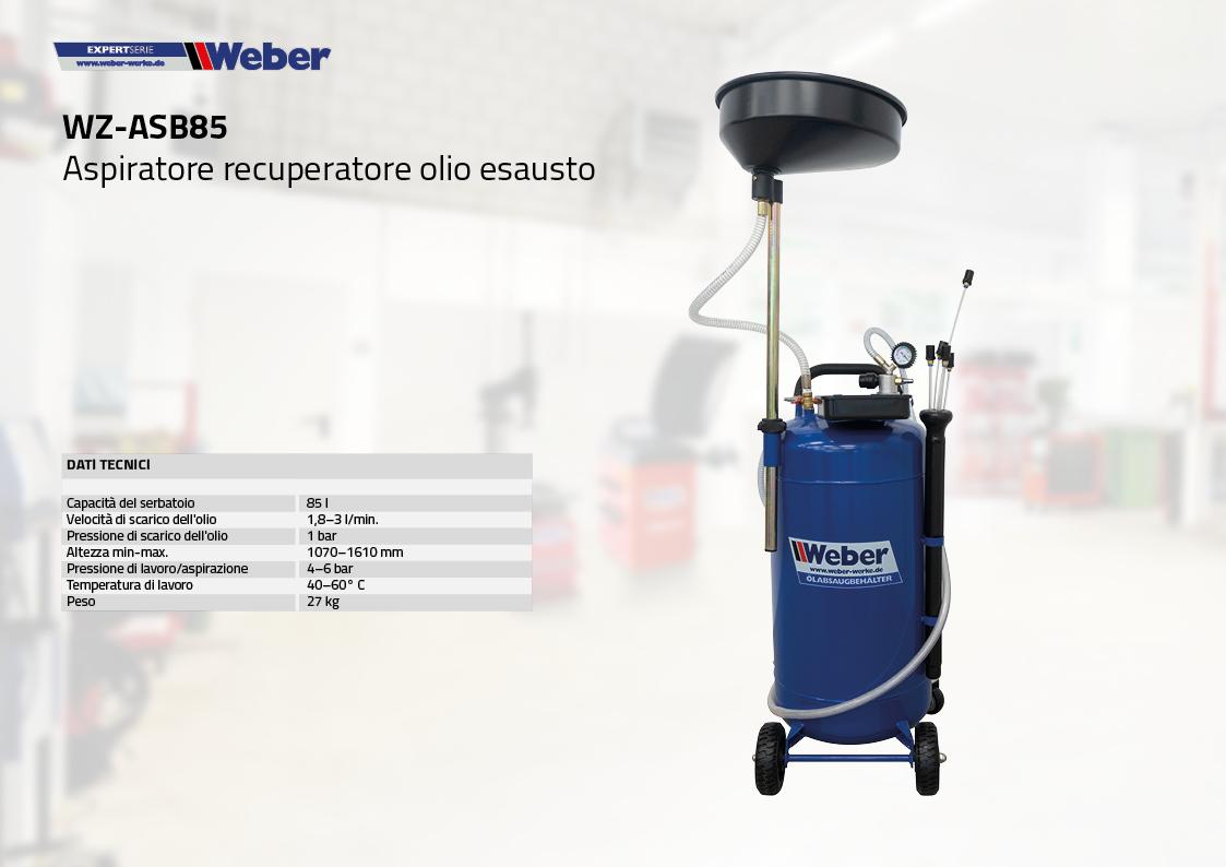 Aspiratore recuperatore olio esausto WZ-ASB85
